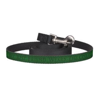 My Best Friend Wears The Collar Green Engraved Pet Leash