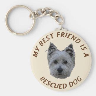 My Best Friend (West Highland White Terrier) Basic Round Button Keychain