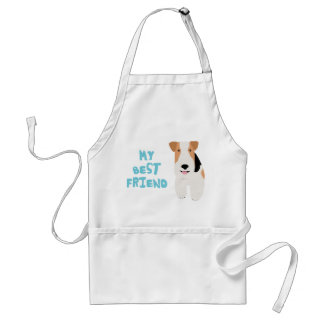 My Best Friend Wire Fox Terrier Adult Apron
