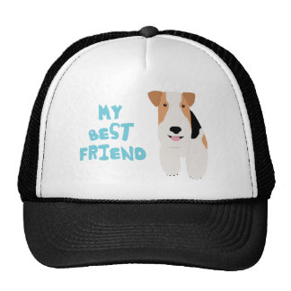 My Best Friend Wire Fox Terrier Trucker Hat
