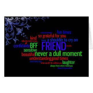 My Best Friend Word Art Card