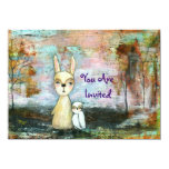 """My Best Friend You Are Invited Original Painting 4.5"""" X 6.25"""" Invitation Card"""