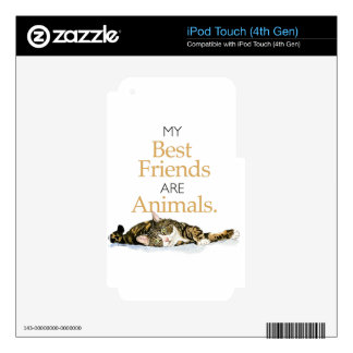 My best friends are animals cat watercolor iPod touch 4G decal