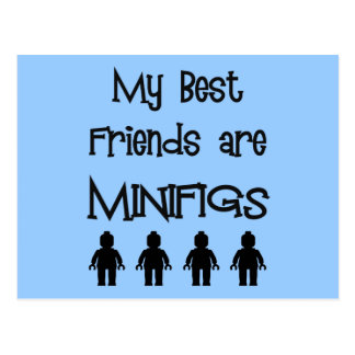 My Best Friends are Minifigs by Customize My Minif Postcard