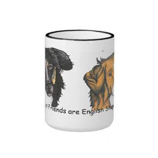 My best friends English Shepherds mug!! Ringer Coffee Mug