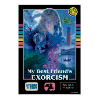 My Best Friend's Exorcism Vintage VHS Cover Poster