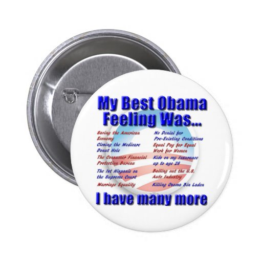 My Best Obama Feeling Was... Button