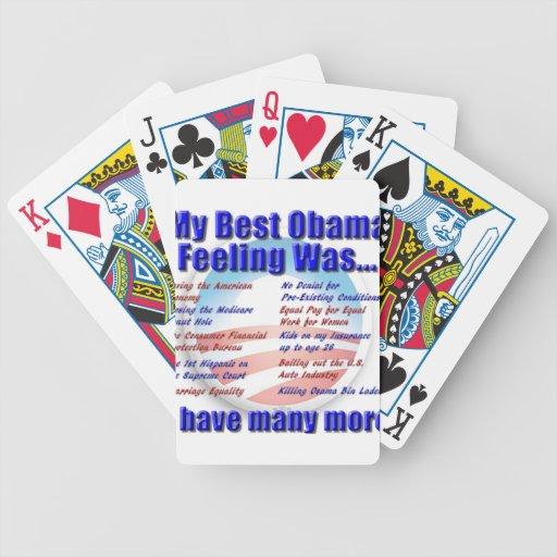 My Best Obama Feeling Was... Card Deck