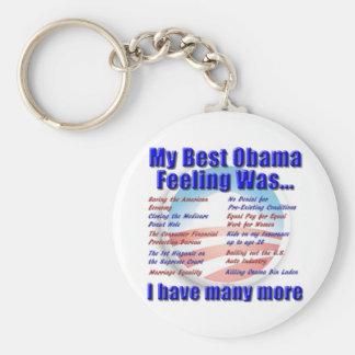 My Best Obama Feeling Was... Basic Round Button Keychain