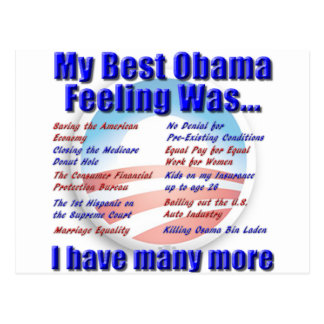 My Best Obama Feeling Was... Postcard