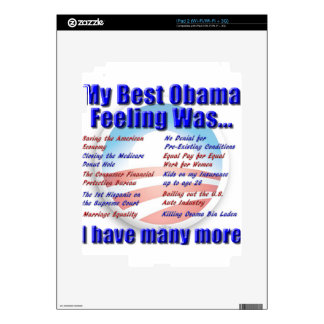 My Best Obama Feeling Was... Skins For iPad 2
