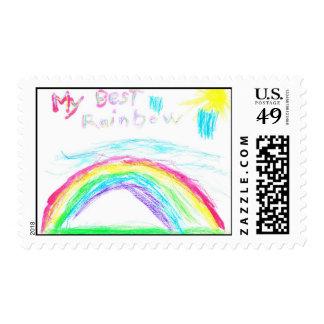 My Best Rainbow postage stamp