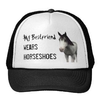 My Bestfriend Wears Horseshoes - Blue Roan Trucker Hat