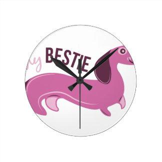 My Bestie Round Wall Clock