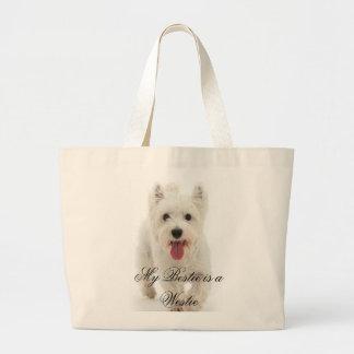 My Bestie is a Westie Large Tote Bag