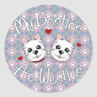 """""""My Besties Are Westies"""" BOY AND GIRL Stickers"""