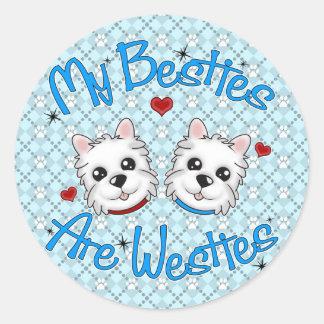 """My Besties Are Westies"" BOYS Stickers"