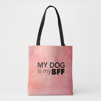 My BFF Pink Swirl Tote Bag