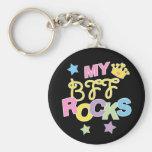 My BFF Rocks Basic Round Button Keychain