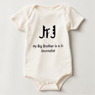 """My Big Brother is a Jr. Journalist"" Baby Bodysuit"