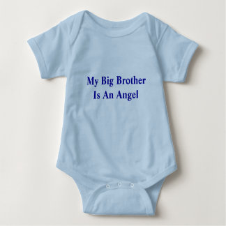 My Big Brother Is An Angel Baby Bodysuit