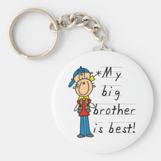 My Big Brother is Best Tshirts and Gifts Basic Round Button Keychain