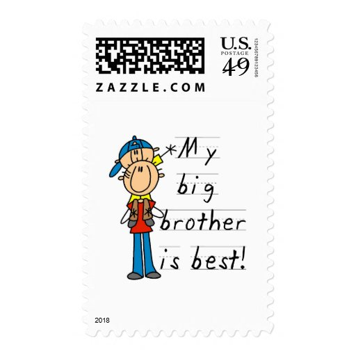 My Big Brother is Best Tshirts and Gifts Postage Stamps