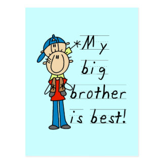 My Big Brother is Best Tshirts and Gifts Postcard
