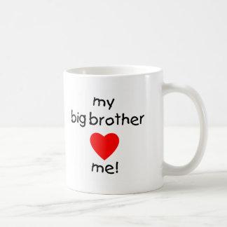 My Big Brother Loves Me Classic White Coffee Mug