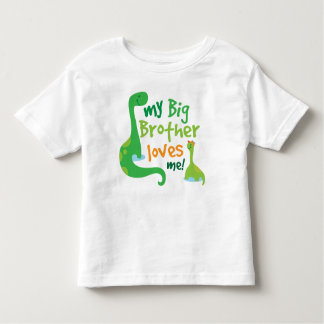 My Big Brother Loves Me Dinosaur T-shirt