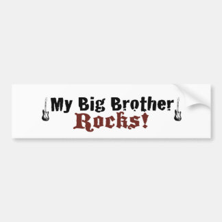 My Big Brother Rocks Bumper Sticker