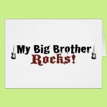 My Big Brother Rocks Card