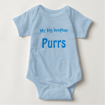"""My Big Brother (Sister) Purrs"" Boys' Bodysuit"