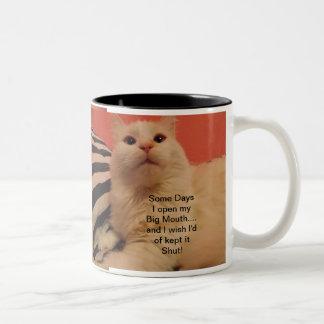My big mouth..Cat Humor Mug