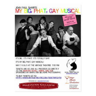 My Big Phat Gay Musical Postcards