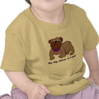 My Big Sister is A Pug Tshirt