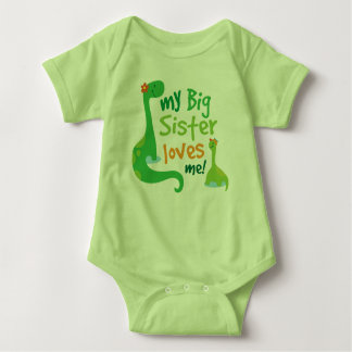 My Big Sister Loves Me Dinosaur T-shirt