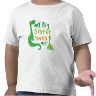 My Big Sister Loves Me Dinosaur T-shirt