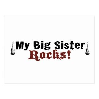 My Big Sister Rocks Postcard