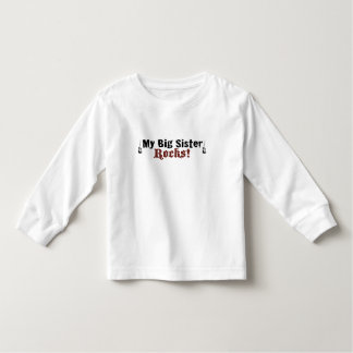 My Big Sister Rocks Toddler T-shirt