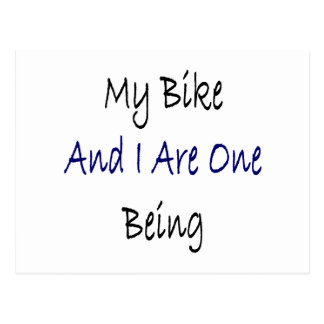 My Bike And I Are One Being Postcard