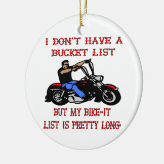 My Bike-It List Is Pretty Long Double-Sided Ceramic Round Christmas Ornament