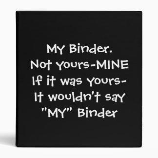 """My"" Binder Series"