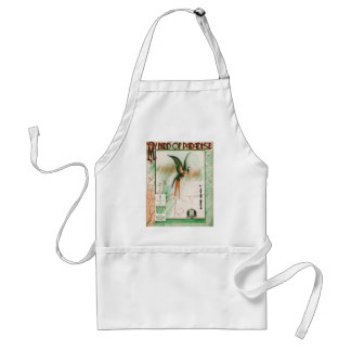 My Bird of Paradise Vintage Music Sheet Cover Adult Apron