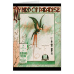 My Bird of Paradise Vintage Music Sheet Cover Card