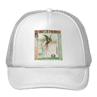 My Bird of Paradise Vintage Music Sheet Cover Hats