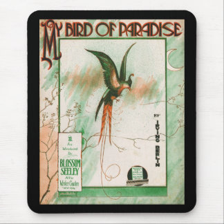 My Bird of Paradise Vintage Music Sheet Cover Mouse Pad