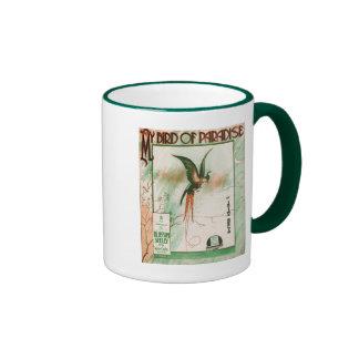 My Bird of Paradise Vintage Music Sheet Cover Mug