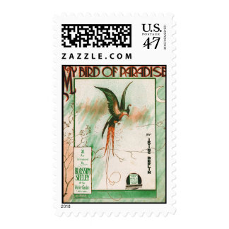 My Bird of Paradise Vintage Music Sheet Cover Postage