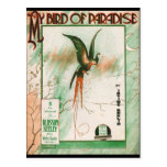 My Bird of Paradise Vintage Music Sheet Cover Postcard